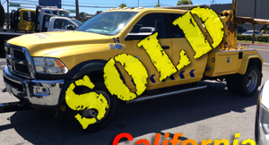 2014 DODGE 5500 4 DOOR (BAD MOTOR)~CENTURY 312 AUTO LOADER (DUAL WINCHES)